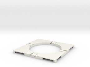 T-65-wagon-turntable-48d-75-corners-flat-1a in White Strong & Flexible