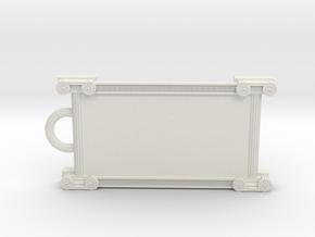 Greek ornament keychain in White Natural Versatile Plastic