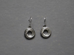 TripleSpiralEarrings in Polished Silver