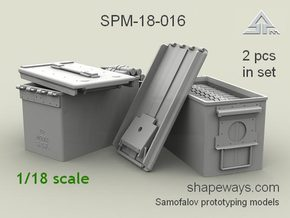1/18 SPM-18-016 cal.50 ammobox opened in Smoothest Fine Detail Plastic