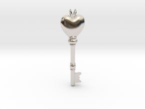 Heart Skeleton Key in Platinum