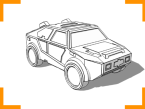 """Masterson"" Utility Vehicle 6mm in White Natural Versatile Plastic"
