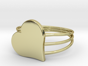 Size 6 Heart For ALL in 18k Gold Plated Brass