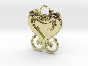 Dragonheart Keychain in 18k Gold