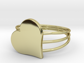 Size 8 Heart For ALL in 18k Gold Plated Brass