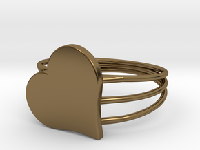 Size 10 Heart For ALL in Polished Bronze