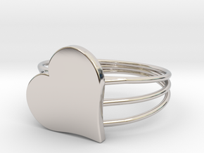 Size 10 Heart For ALL in Rhodium Plated Brass