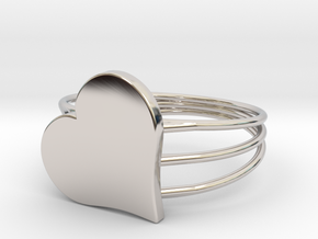 Size 11 Heart For ALL in Rhodium Plated Brass