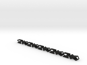 Abstract chain in Black Natural Versatile Plastic