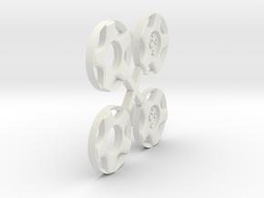 S04-SI1 4WD Wheel Inserts Audi Speedline Rally in White Natural Versatile Plastic