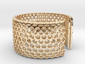 Geotombik Bracelet / Cuff in 14k Gold Plated Brass