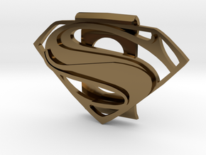 Superman Money Clip in Polished Bronze