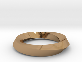 RingSwirl180 in Polished Brass