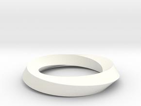 RingSwirl180 in White Processed Versatile Plastic