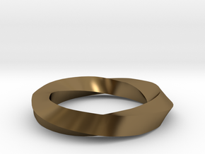 RingSwirl270 in Polished Bronze