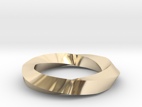 RingSwirl270 in 14k Gold Plated Brass