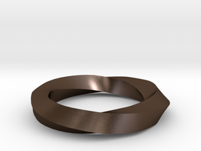 RingSwirl270 in Polished Bronze Steel