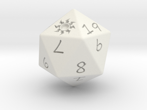 D20 Plains in White Natural Versatile Plastic: Medium