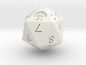 D20 Forest in White Natural Versatile Plastic: Medium