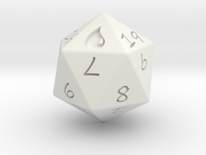 D20 Island in White Natural Versatile Plastic: Medium