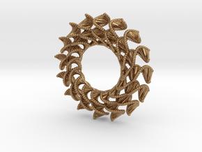 DNA Flower 16-Petal Pendant in Polished Brass