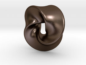 TriangleSwirl360 in Polished Bronze Steel