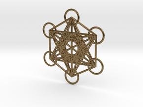 Metatrons cube custom  in Polished Bronze
