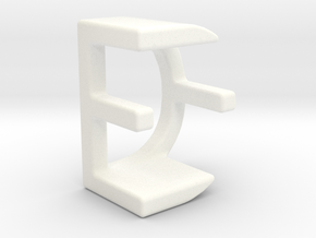 Two way letter pendant - DE ED in White Processed Versatile Plastic