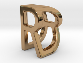 Two way letter pendant - DR RD in Polished Brass