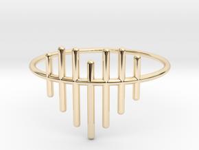 Size 7 Heartstrings in 14k Gold Plated Brass