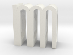M Object-Poem Small in White Natural Versatile Plastic