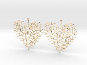 Heart Earrings in 14k Gold Plated
