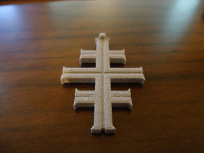 Cross in White Natural Versatile Plastic