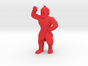 Mexican Wrestler #5: El Gladiator in Red Processed Versatile Plastic