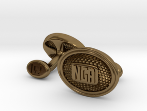 NGA Cufflinks in Polished Bronze