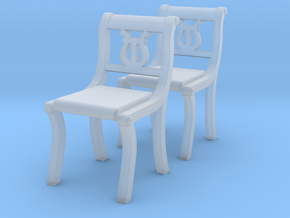 1:48 Lyre Chairs, Set of 2 in Smooth Fine Detail Plastic