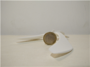 Balancing Bird in White Natural Versatile Plastic