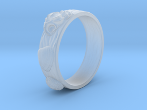 Sea Shell Ring 1 - US-Size 7 (17.35 mm) in Smoothest Fine Detail Plastic