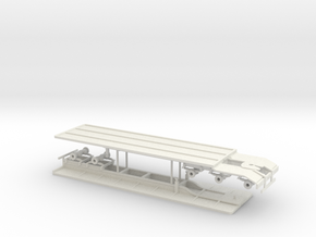1/64th Set of Super B flatbed trailers in White Natural Versatile Plastic