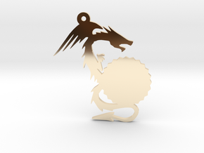 Small Customizable Dragon Keychain/Pendant in 14K Yellow Gold