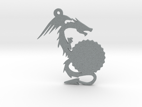 Small Customizable Dragon Keychain/Pendant in Polished Metallic Plastic
