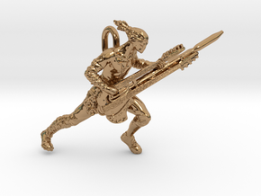 Coma Doof Warrior pendant in Polished Brass