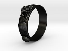 Sea Shell Ring 1 - US-Size 10 1/2 (20.20 mm) in Matte Black Steel