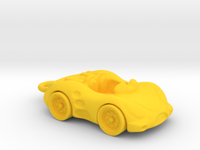 Car Key Chain in Yellow Processed Versatile Plastic