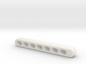 Organized Key Holder in White Natural Versatile Plastic