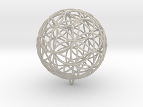 Pendant 88mm Flower Of Life in Natural Sandstone