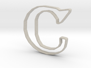 Typography Pendant C in Natural Sandstone