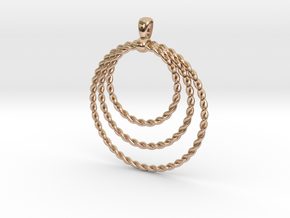 Three Rope Pendant/ Necklace in 14k Rose Gold Plated Brass