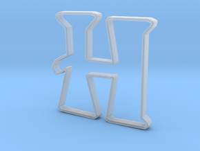 Typography Pendant H in Smooth Fine Detail Plastic