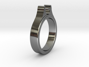 Ø20.20mm - Ø0.795inch Diamond Ring Cool Ø6.2mm Fit in Fine Detail Polished Silver